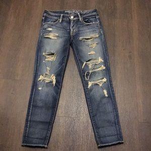 American Eagle  Super Stretch Distressed Jeans 4
